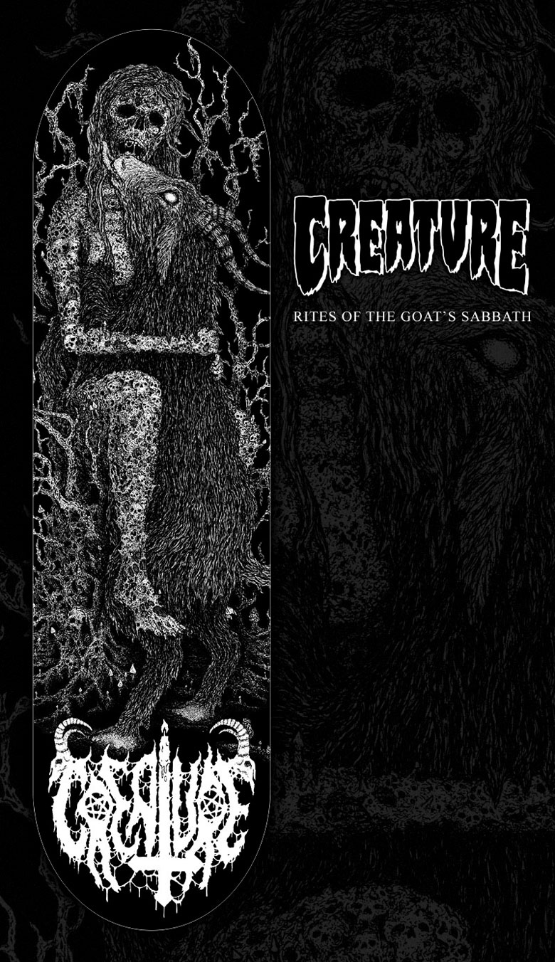 "Creature Skateboards ""Rites of the Goat's Sabbath"" Deck"